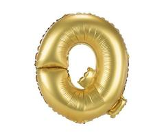 Goldballon Schrift Großbuchstaben q foto