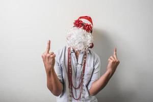 lustiger Weihnachtsmann babbo natale foto