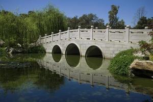 Brücke in einem chinesischen Garten foto