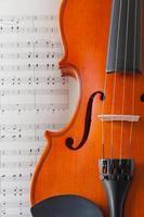 Geige und Note foto