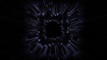 endloser dunkler Tunnelhintergrund 3d