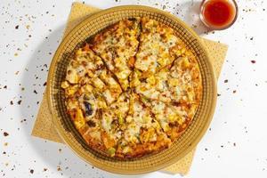 indische Art der italienischen Gericht Paneer Pizza