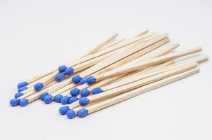 blaues Streichholz