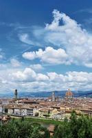 vertikale Ansicht von Florenz foto