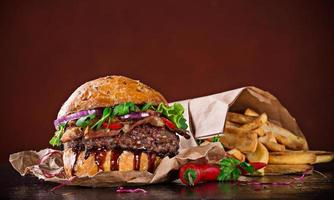 leckerer Hamburger foto