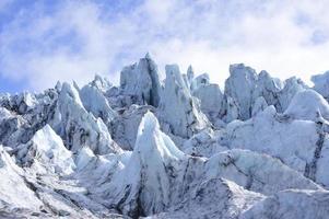 Wand des Eisgletschers Island