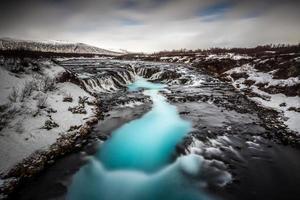 schöner Bruarfoss Wasserfall Island