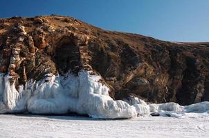 schmelzende Gletscher. globale Erwärmung. verwendet Toning des Fotos.