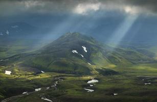 isländischer Sonnenschein foto