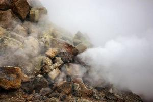 rauchende Fumarole in Island