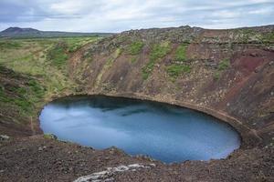 Kerid, vulkanischer Kratersee. Island