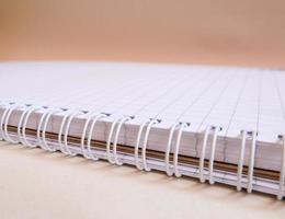 Notizbuch mit Spiralen