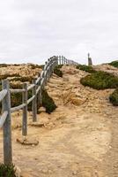 Zaun auf dem Weg, Cabo da Roca, Sintra (Portugal) foto