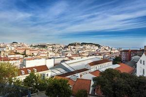 Blick auf die Innenstadt von Lissabon, Portugal