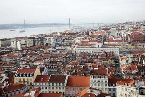 Blick über Lissabon von Castelo de São Jorge, Alfama