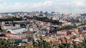 Blick auf das Stadtbild von Lissabon. Portugal, Südwesteuropa
