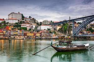 Porto in der Abenddämmerung