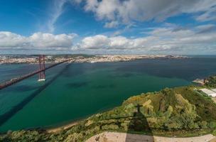 Panoramablick von Lissabon foto