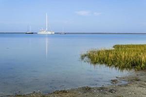 Dämmerungslandschaft der Algarve Cavacos Beach in den Feuchtgebieten von Ria Formosa