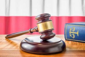 Hammer und ein Gesetzbuch - Polen