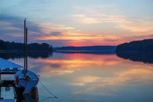 schöne Aussicht auf den See in Masuria Bezirk, Polen