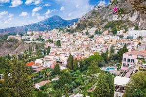 Panorama von Taormina, Sizilien