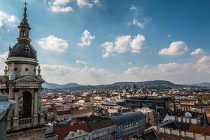 Blick auf Budapest von der Basilika Saint Stephans