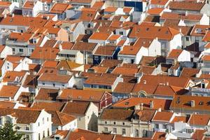 Dächer in Nazare, Portugal