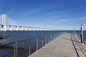 Blick auf die große Vasco da Gama Brücke