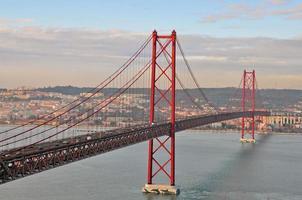 Golden Gate Bridge in Lissabon foto