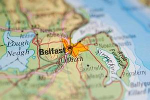 Belfast Karte