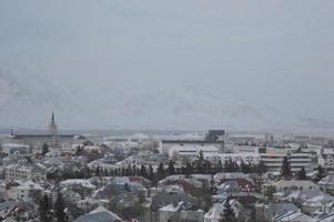reykjavik Stadtzentrum, Blick vom perlan im Winter, Island