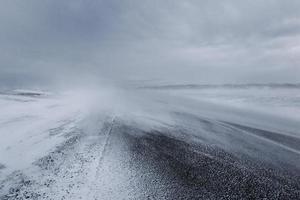 schneebedeckte Straße