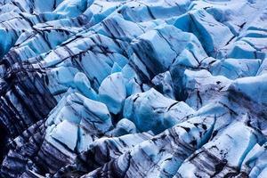 blauer Gletscher in Island