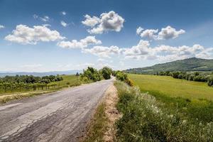Panoramablick. hügelig in der Toskana, Italien