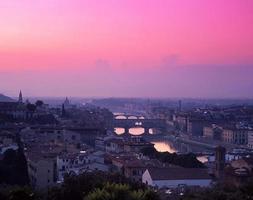 Blick auf die Stadt, Florenz, Italien.