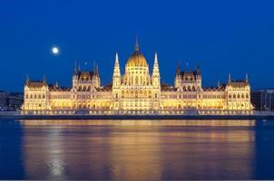 Donau und ungarisches Parlament