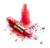 Nagellack, Lidschatten und Lippenstift