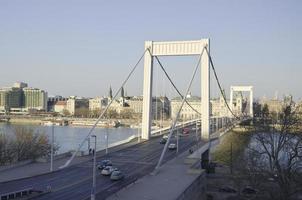 Kettenbrücke in der Nacht in Budapest