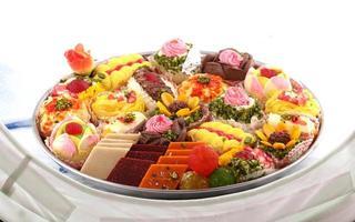 indisches Desserttablett