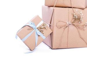 Geschenkpapier aus Kraftpapier foto