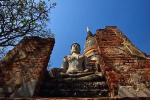 alter Buddha, Ayutthaya, Thailand foto