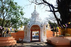 Wat Phra Sing ist ein berühmter Ort in Chiang Rai, Thailand. foto