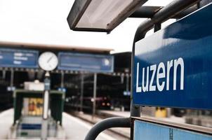 Luzern, Schweiz, Hauptbahnhof foto