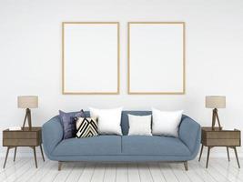 Wohnzimmer 3d gerenderten Hintergrund