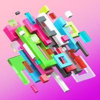 3D gerenderte Kompositionen