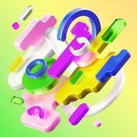 3D-Objekte rendern Komposition