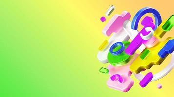 3D gerenderte Komposition