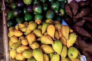Ernte von frischem Obst foto