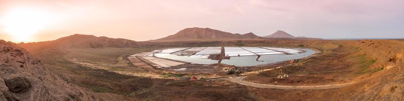 Panorama-Luftaufnahme von Salinas in Sal Cape Verde foto